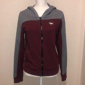 PINK Maroon Zip-Up Jacket